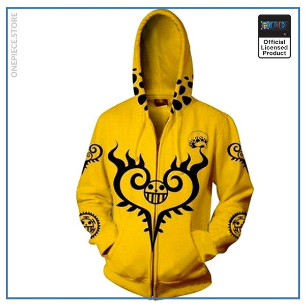 One Piece Hoodie  Surgeon of Death (Yellow) OP1505 S Official One Piece Merch