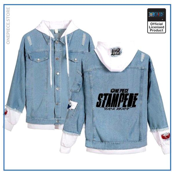 One Piece Jean Jacket  STAMPEDE OP1505 White / S Official One Piece Merch