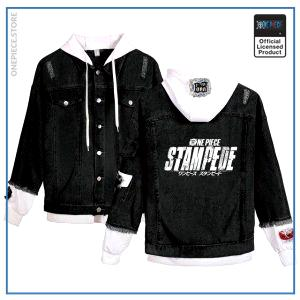 One Piece Jean Jacket  STAMPEDE (Black) OP1505 White / S Official One Piece Merch