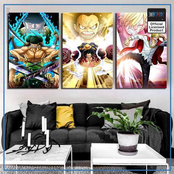 One Piece Wall Art  Monster Trio OP1505 30x45cm x 3 pcs / No Frame Official One Piece Merch