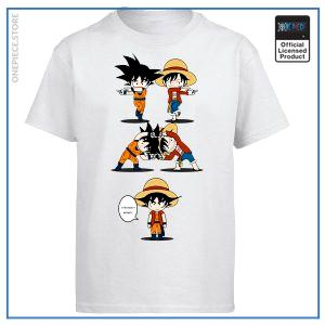 One Piece Shirt  Goku & Luffy Fusion OP1505 White / S Official One Piece Merch