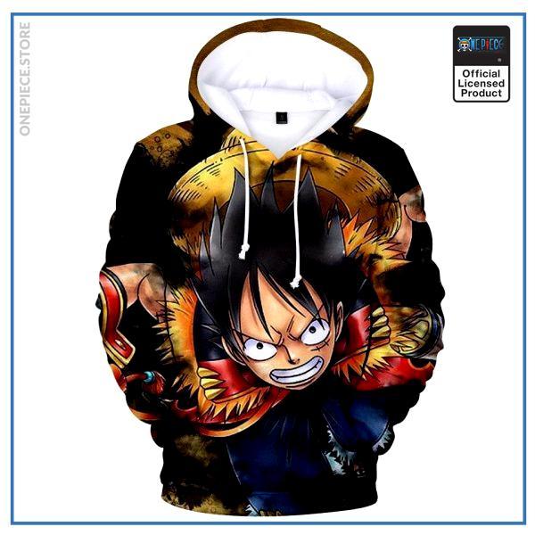 One Piece Hoodie  Adventurer Luffy OP1505 S Official One Piece Merch