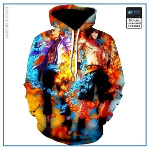 One Piece Hoodie  Ace and Marco OP1505 S Official One Piece Merch