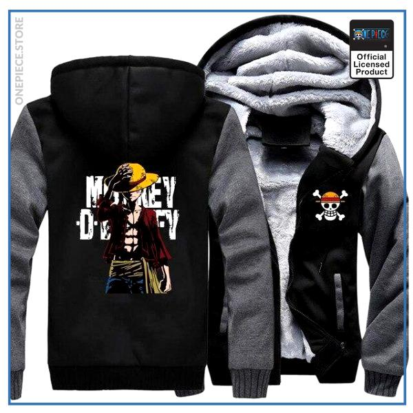 One Piece Jacket  Monkey D. Luffy (Black & Grey) OP1505 M Official One Piece Merch
