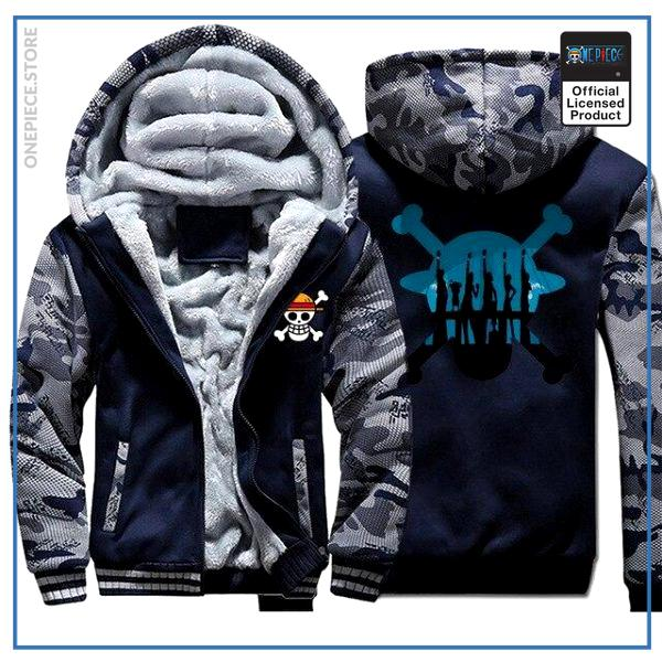 One Piece Jacket  Straw Hat Crew (Blue & Grey) OP1505 M Official One Piece Merch
