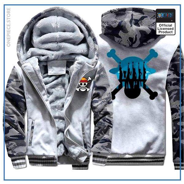 One Piece Jacket  Straw Hat Crew (Camo White) OP1505 M Official One Piece Merch
