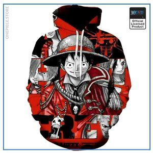 One Piece Hoodie  Captain Luffy OP1505 S Official One Piece Merch