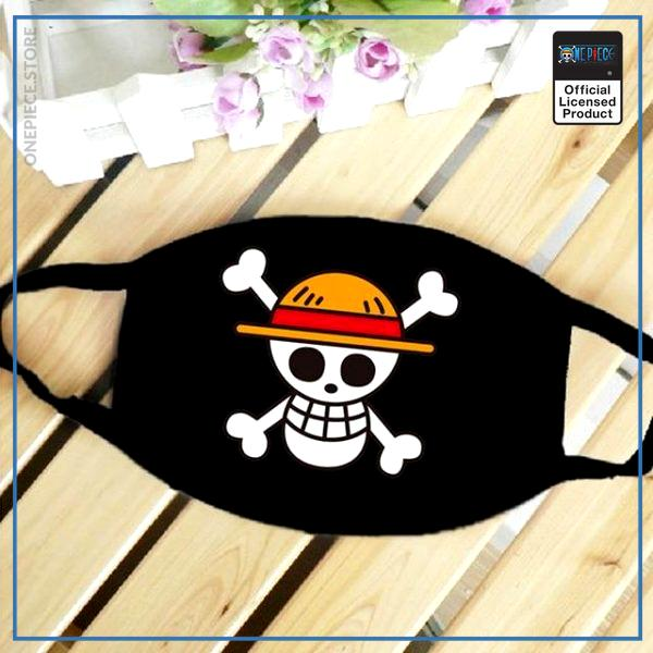 One Piece Face Mask  Straw Hat OP1505 Default Title Official One Piece Merch