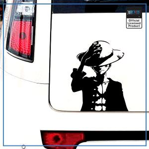One Piece Car Sticker  Luffy OP1505 Black / S 12cm X 14cm Official One Piece Merch