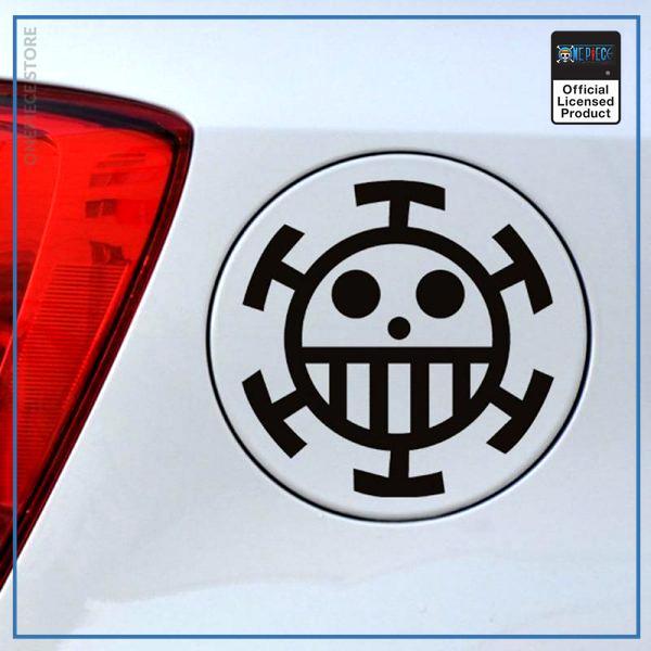 One Piece Car Sticker  Trafalgar Law OP1505 Black / 15x15 Official One Piece Merch