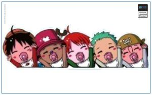One Piece Car Sticker   Baby Straw Hat Crew OP1505 Default Title Official One Piece Merch