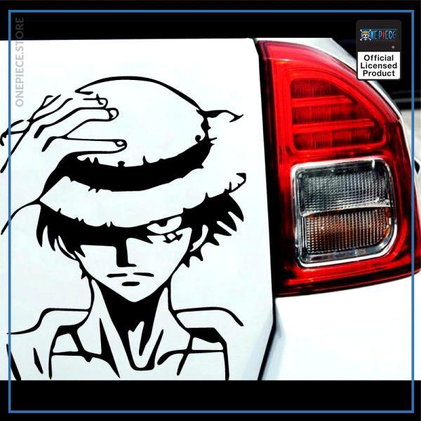 One Piece Car Sticker  Monkey D. Luffy OP1505 Black / S 12cm X 14cm Official One Piece Merch
