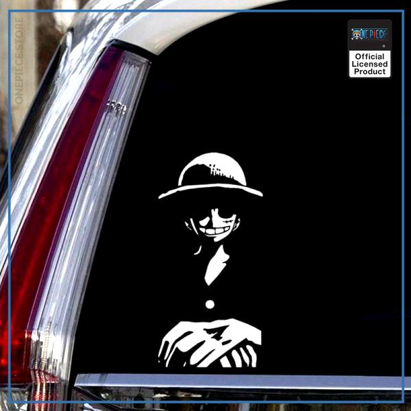 One Piece Car Sticker  Straw Hat Luffy OP1505 Black / 16cmX8cm Official One Piece Merch