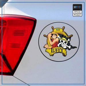 One Piece Car Sticker  Pirate Luffy OP1505 Default Title Official One Piece Merch