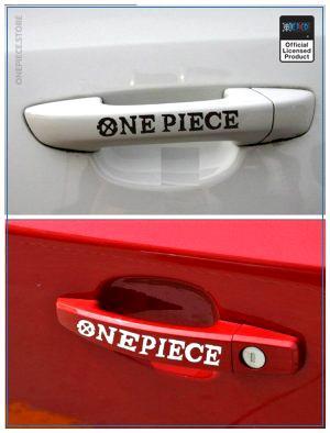 One Piece Car Sticker  Door Handle OP1505 Black Official One Piece Merch