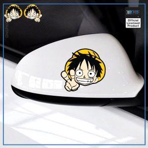 One Piece Car Sticker  Chibi Luffy OP1505 Default Title Official One Piece Merch