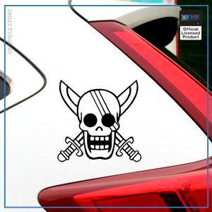 One Piece Car Sticker  Shanks OP1505 Black / 14x14cm Official One Piece Merch