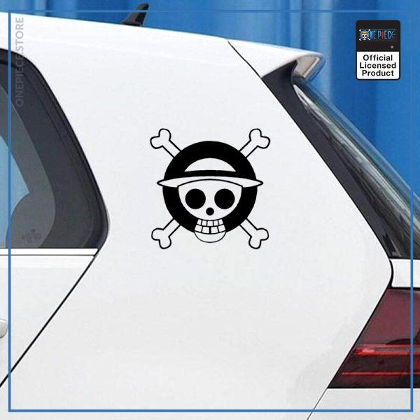 One Piece Car Sticker  Logo Jolly Roger OP1505 Black / 13x13cm Official One Piece Merch