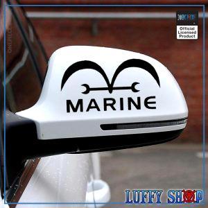 One Piece Car Sticker  Marine OP1505 Black Official One Piece Merch