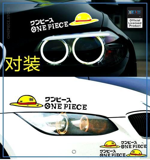 One Piece Car Sticker  Bumper Sticker OP1505 White Official One Piece Merch