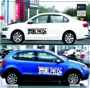 One Piece Car Sticker  Official Logo OP1505 Black / 100x38cm Official One Piece Merch