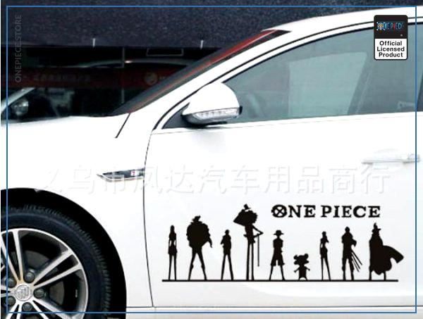 One Piece Car Sticker  The Straw Hats OP1505 Black / 50x16 cm Official One Piece Merch