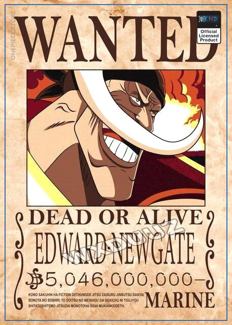 One Piece Wanted Poster  Edward Newgate Bounty OP1505 21cm X 30cm Official One Piece Merch