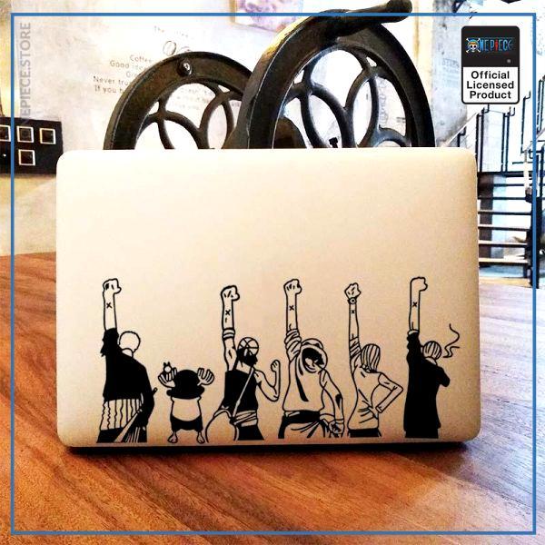 One Piece Laptop Sticker  Alabasta Cross OP1505 For 11 inch Macbook / Black Decal Official One Piece Merch