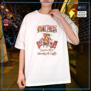 One Piece Shirt  Streetwear O Neck OP1505 White / M Official One Piece Merch