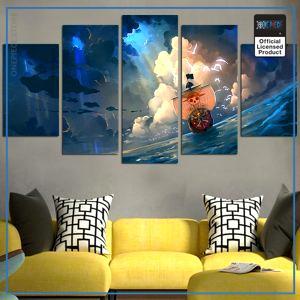 One Piece Wall Art  Thousand Sunny OP1505 Medium / No Frame Official One Piece Merch