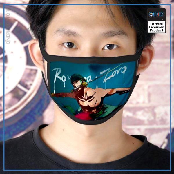One Piece Face Mask  Roronoa Zoro OP1505 Default Title Official One Piece Merch