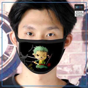 One Piece Face Mask  Zoro Tanuki OP1505 Default Title Official One Piece Merch