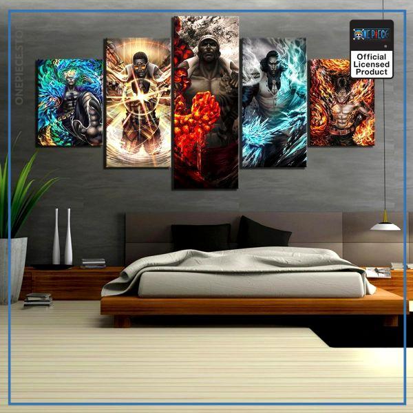 One Piece Wall Art  Admirals OP1505 Small / No Frame Official One Piece Merch