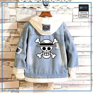 One Piece Jean Jacket  Straw Hat Jolly Roger OP1505 S Official One Piece Merch