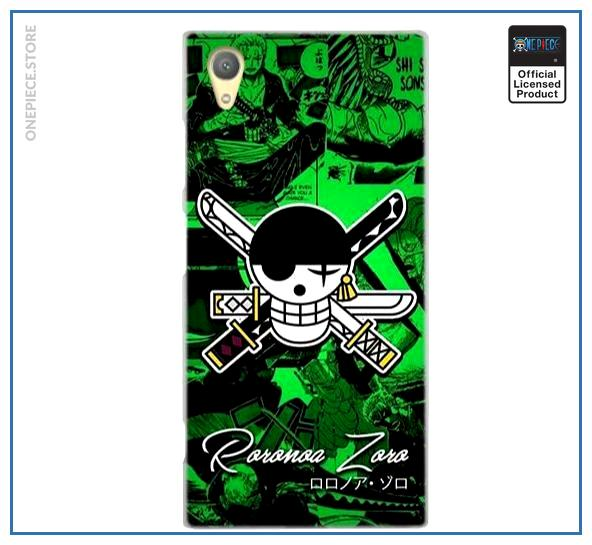 One Piece Sony Case  Zoro Jolly Roger OP1505 for Sony XR or XZS Official One Piece Merch
