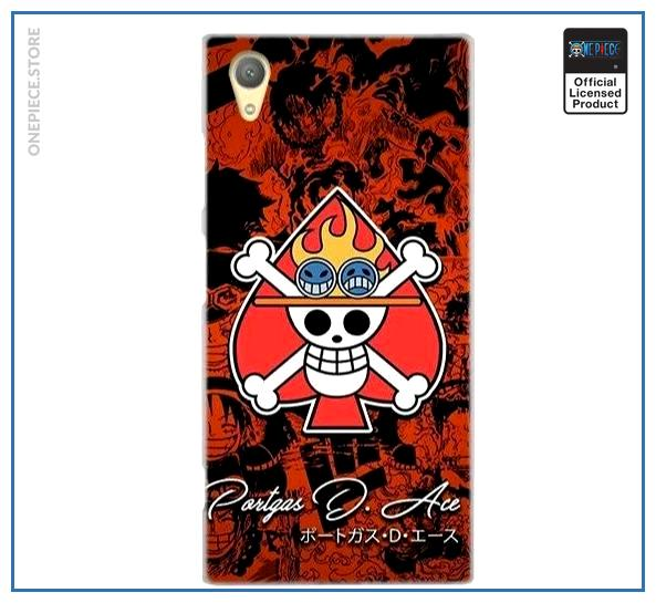 One Piece Sony Case  Spades Pirates OP1505 for Sony XR or XZS Official One Piece Merch