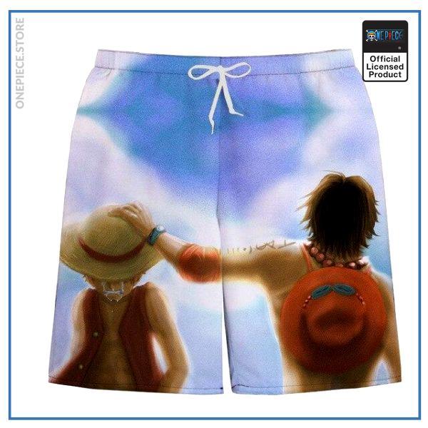 One Piece Swim Short  Luffy & Ace OP1505 S Official One Piece Merch
