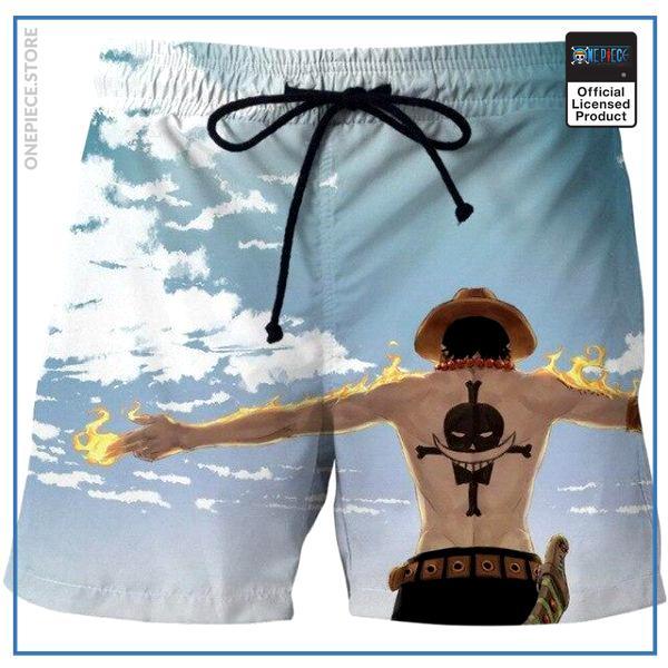 One Piece Swim Short  Ace Blue Sky OP1505 S Official One Piece Merch