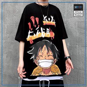 One Piece Shirt  Luffy Harajuku OP1505 Black / S Official One Piece Merch