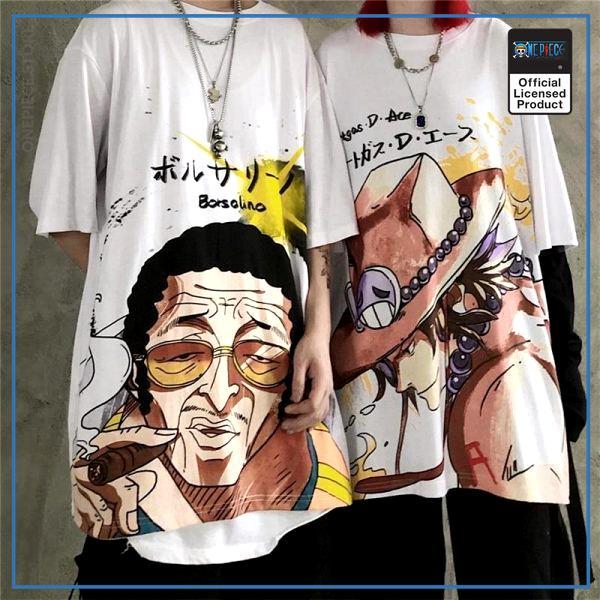 One Piece Shirt  Kizaru & Ace OP1505 Kizaru / S Official One Piece Merch
