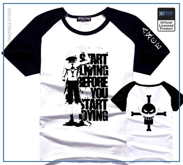 One Piece Shirt  Hiken No Ace OP1505 Black Sleeve / S Official One Piece Merch