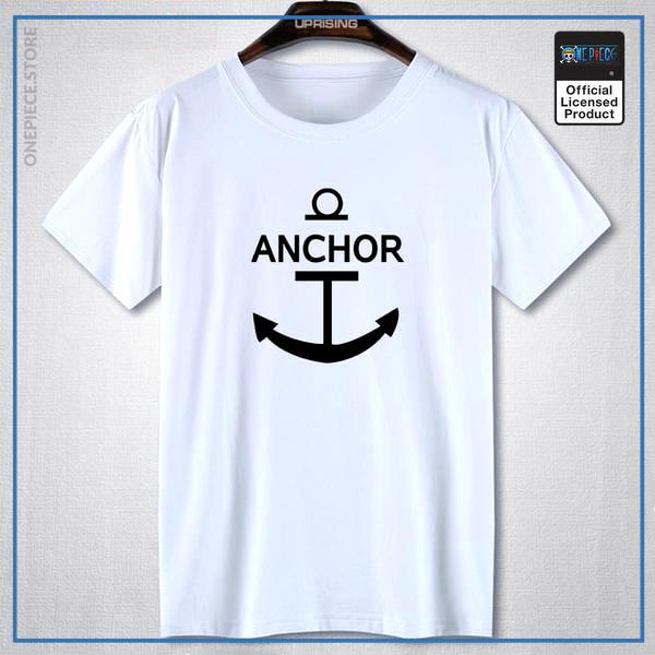 One Piece Shirt  Anchor OP1505 White / S Official One Piece Merch