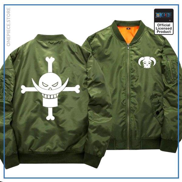 One Piece Bomber Jacket  Whitebeard (Green) OP1505 S Official One Piece Merch