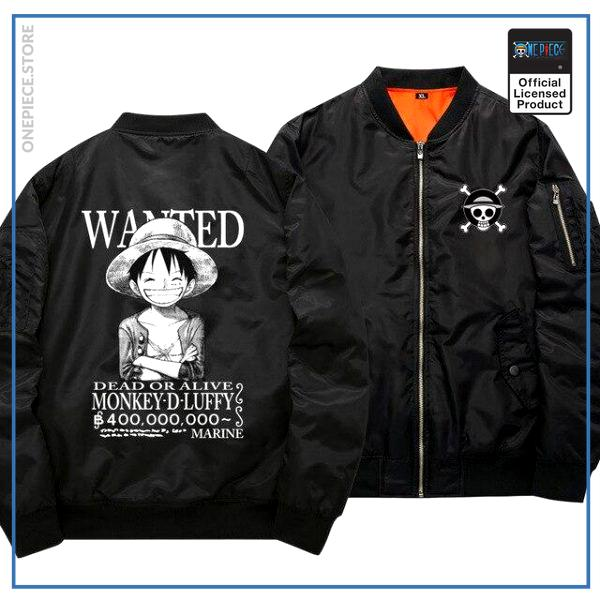 One Piece Bomber Jacket  Monkey D. Luffy (Black) OP1505 S Official One Piece Merch