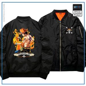 One Piece Bomber Jacket  Ace (Black) OP1505 S Official One Piece Merch