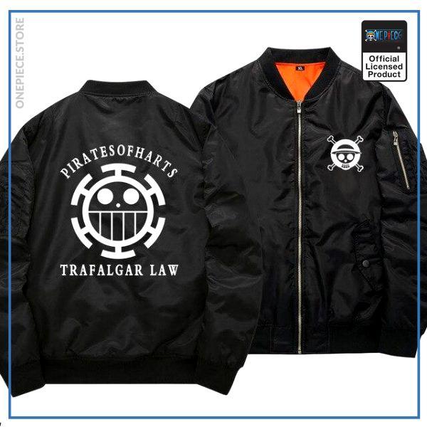 One Piece Bomber Jacket  Trafalgar Law (Black) OP1505 S Official One Piece Merch