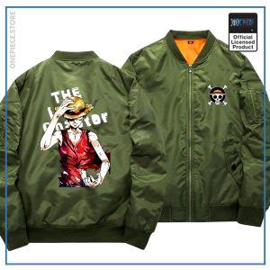 One Piece Bomber Jacket  Luffy (Green) OP1505 S Official One Piece Merch