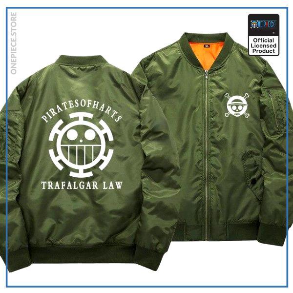One Piece Bomber Jacket  Trafalgar Law (Green) OP1505 S Official One Piece Merch
