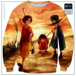 One Piece Sweater  Luffy & Ace & Sabo OP1505 S Official One Piece Merch