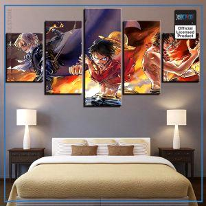 One Piece Wall Art  Luffy Ace Sabo OP1505 Small / No Frame Official One Piece Merch